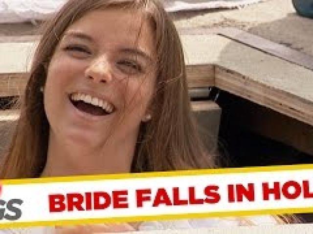Bride Falls in a Hole!