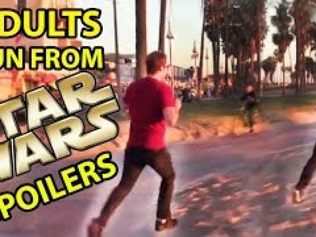 Star Wars Fans Run from Fake Spoilers Prank