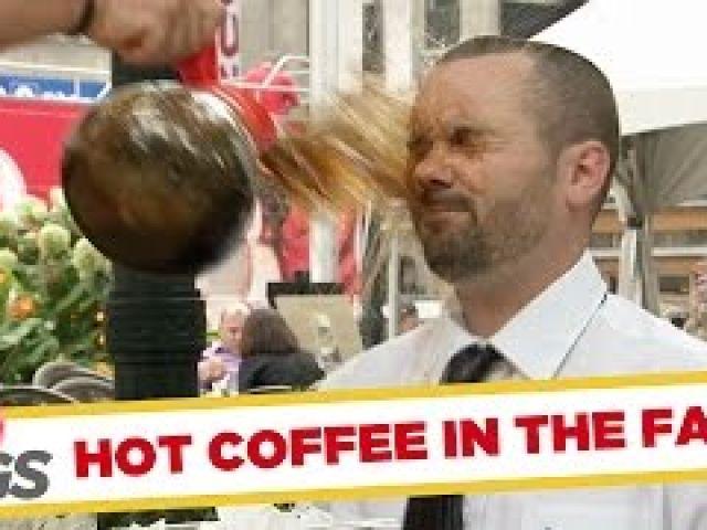 Hot Coffee Thrown on Man