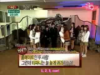 SNSD Seohyun Pillow Fights Fany [Eng Subs]