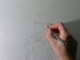 Drawing Iron Man