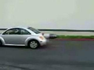 VW Beetle spits fire