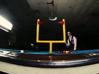 Billiard Trick Shots - Super Bowl XLIX Edition