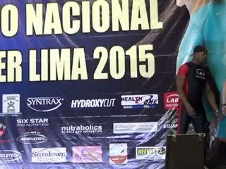 Eva Andressa en el Miss y Mister Lima 2015