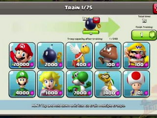 CLASH OF CLANS vs MARIO