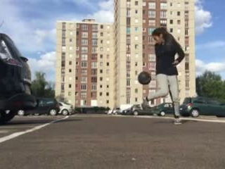 Lisa Football Tricks Shot