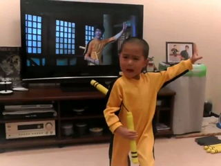 it's little Bruce Lee
