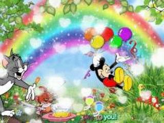 Happy Birthday Wishes by Cartoons