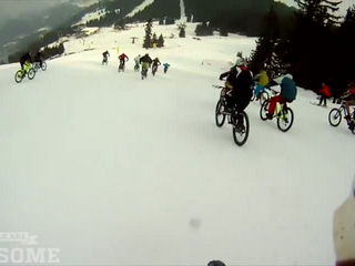 MTB Race on Ski Slope