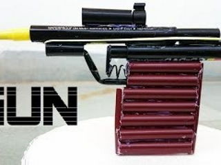 How to Make a Powerful Gun using Sketch Pen that shoots