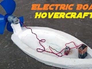 How to Make an Electric Boat - Hovercraft - Easy Way