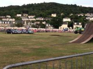 Monster truck roll at the Extreme Stunt Show Greenock