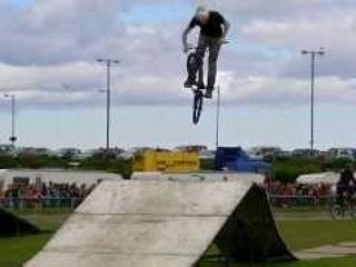 Slow Mo BMX Bike Stunts Extreme Stunt Show Aberdeen