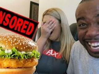 My Girlfriend Surprised Reaction To Guy Jerking Off With A McChicken LOL!