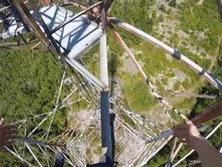 Crazy Hydro Tower Climb