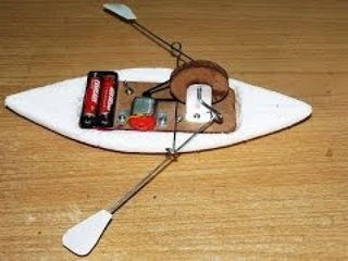 How to make a toy rowing Boat - DIY Boat