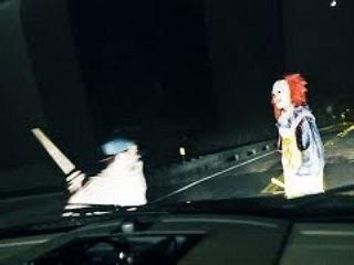 KILLER CLOWN RUN OVER Clown Sightings