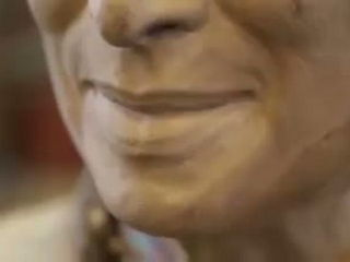 Great Sculpture Of King Bhumibol Smiling