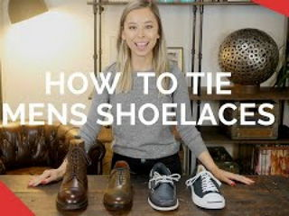 How To Tie Mens Shoelaces