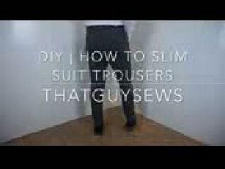 DIY How To Slim & Shorten Suit Trousers