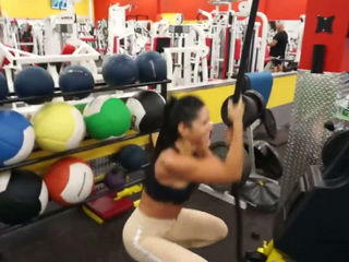 Michelle Lewin REAL Jump Squats
