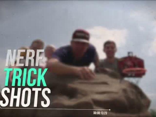 NERF Trick Shots - Dude Perfect