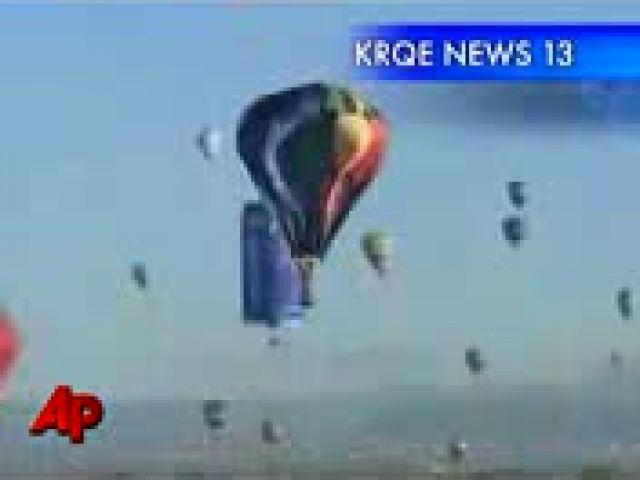 Hot Air Balloon Crashes Into Tent