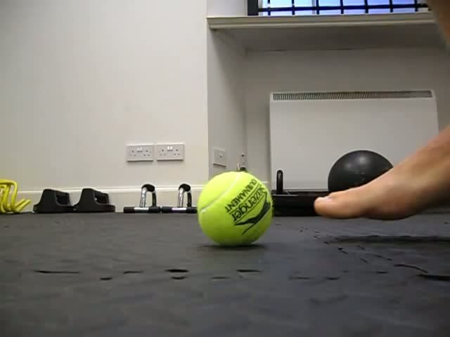 Pain In Arch Of Foot - Plantar Fasciitis Treatment - Tennis Ball Massage