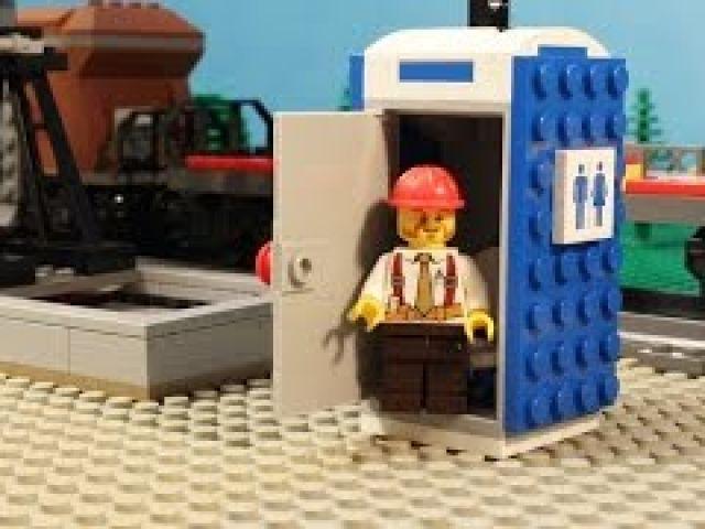 LEGO Portable Toilet - Stop Motion Video