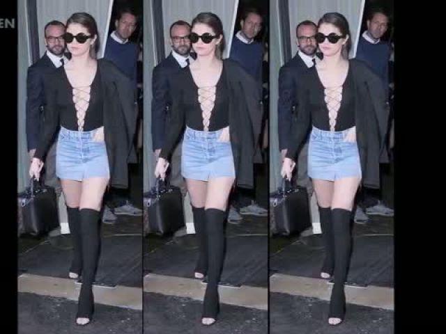 Selena Gomez Flashes Knickers Twice Wardrobe Malfunction