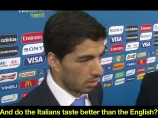 Luis Suarez says Chiellini looked delicious