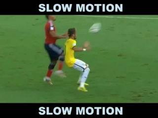 Juan Zuniga vs Neymar Foul
