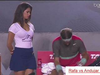 Beautiful HOT GIRL of Rafael NADAL - funny moments tennis Rio Open 2014.MP4