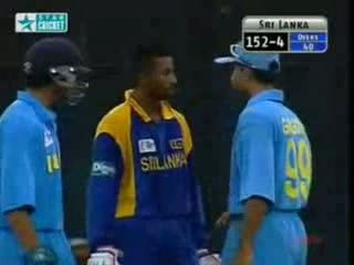 Cricket Fights - Sourav Ganguly v Russell Arnold - India v Sri Lanka final Match