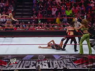WWE Superstars- Kelly Kelly & Eve vs. Alicia Fox & Katie Lea