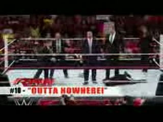 Top 10 WWE Raw moments- October 28