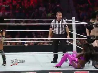 AJ Lee & Paige vs. The Funkadactyls- Raw