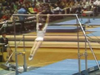 Nadia Comaneci - Uneven Bars - 1976 American Cup