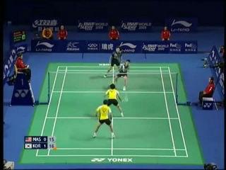 Best of Men's Doubles Badminton 1 - Malaysia vs Korea
