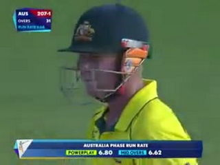 David Warner huge six caught and shined in crowd!