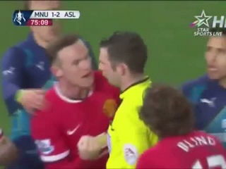Di Maria dive and get two yellow card in 10s - Arsenal vs Manchester United 2-1 FA Cup 2015