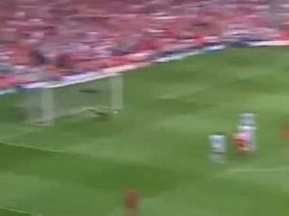 Steven Gerrard's 30 yard volley - Liverpool V West Ham