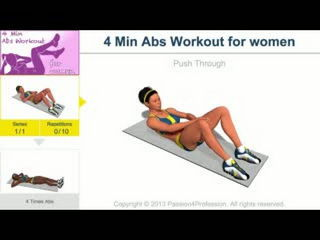 4 Min Abs Workout for Women - 720p