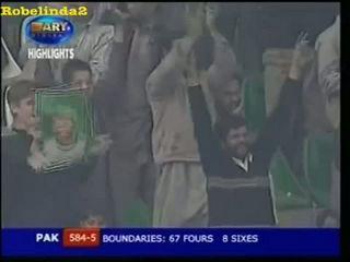 Shahid Afridi Crazy 24 in 4 Balls vs Harbhajan