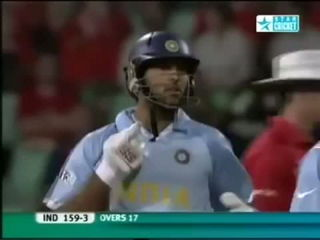 Yuvraj Singh 6 sixes in six balls against England in t20 world cup