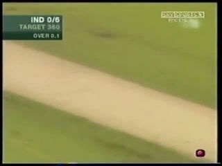 Virender Sehwag hits first ball of the match for a six