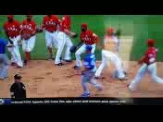 Rougned Odor Punches Jose Bautista (RAW VIDEO) Texas Rangers vs Toronto Blue Jays Brawl