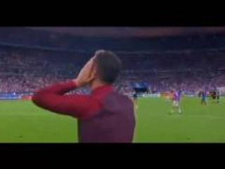 Cristiano Ronaldo celebrating & crying after wins Euro 2016 vs France 10-7-2016