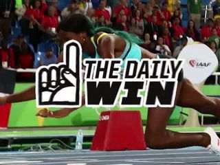 Shaunae Miller's dive wins Gold in 400m final Rio Olympics 2016