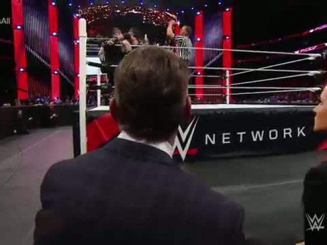 WWE Roman Reigns competes in a One vs All Match Raw